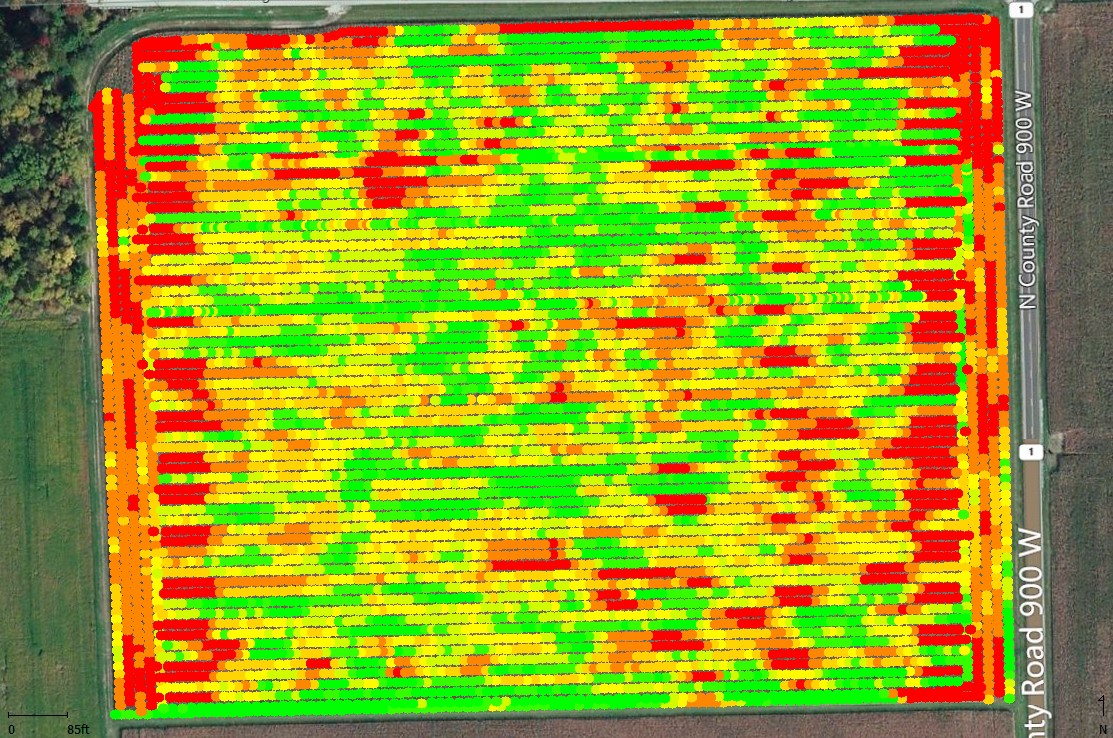 Yield data before processing.